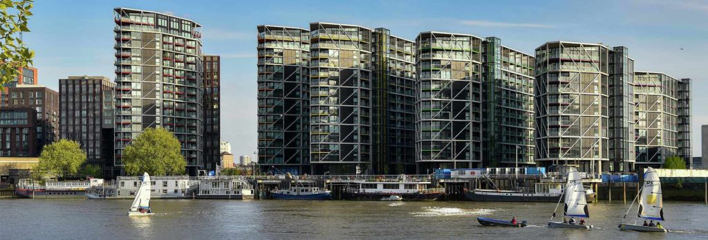 Who is living in the Nine Elms homes?