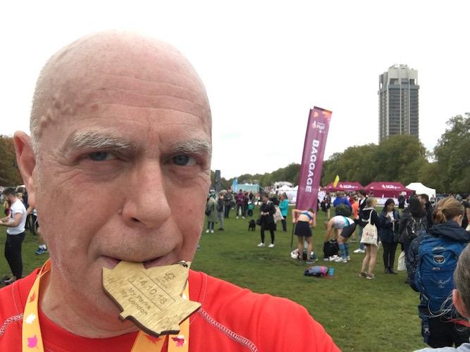 The rather wet Royal Parks Half Marathon 2018