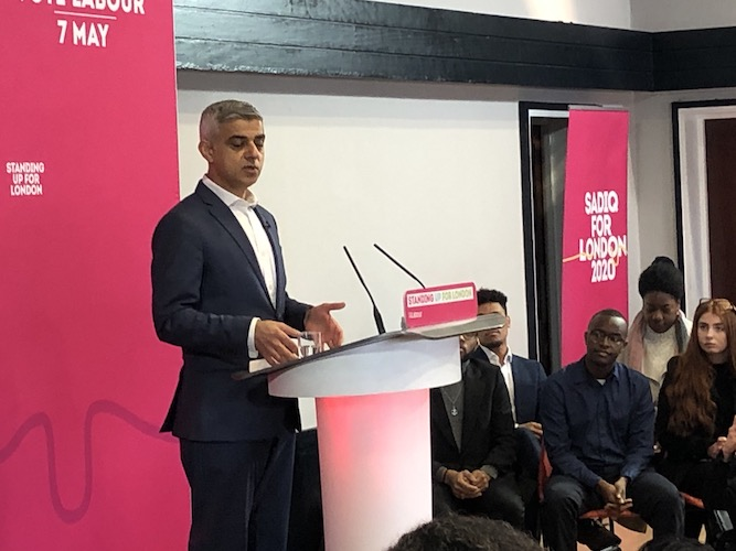Sadiq Khan launches London Mayor campaign, saying it will be 'a referendum' on introducing rent controls in the capital