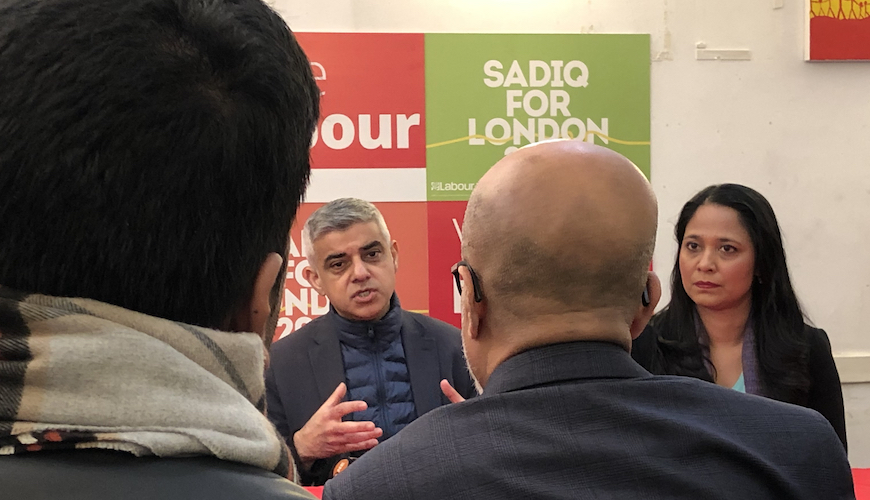 Election 2020: 'I'm just warming up' says pugnacious Sadiq Khan on the campaign trail in the East End
