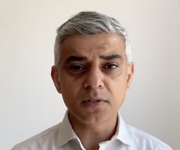 London coronavirus peak still 'probably a week and a half away' says Sadiq Khan