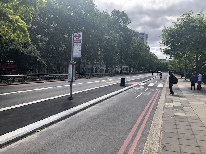 Park Lane cycle lane confirmed as 'temporary' by TfL
