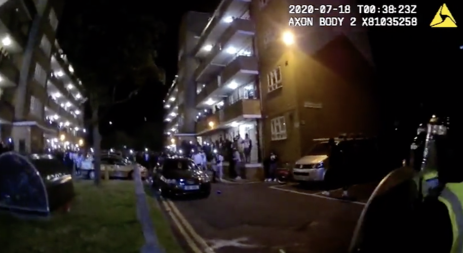 London police use dispersal powers against alcohol offences and unlicensed events