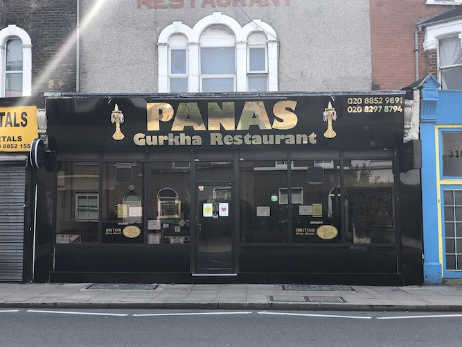 Lewisham: The Panas Gurkha restaurant and 'that thing money cannot buy'