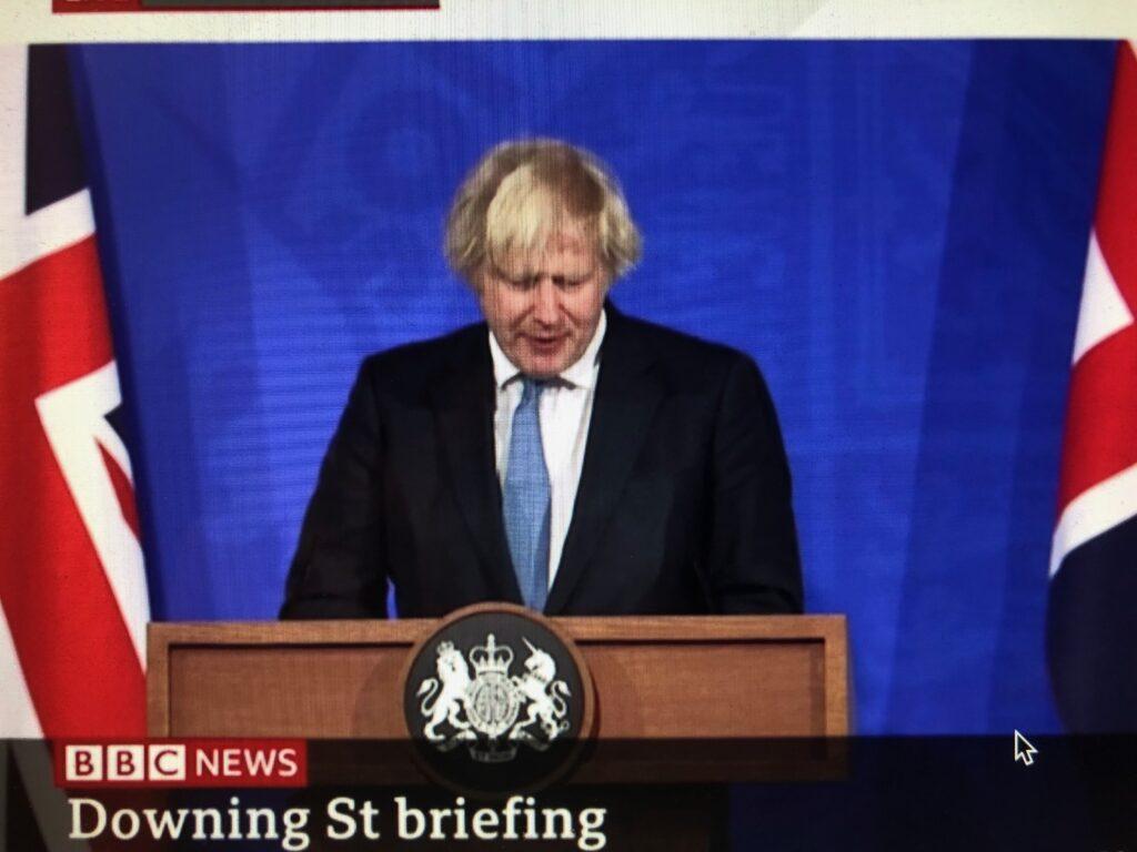 Boris Johnson repeats party political false claim about TfL finances at Covid briefing