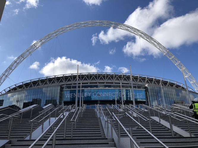 Wembley unveils its 48 Olympic Steps as London regenerates once more