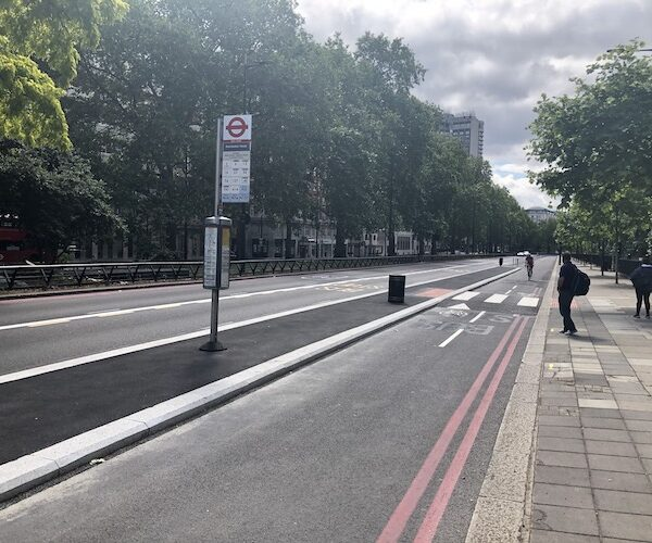 What's happening with the Park Lane 'temporary' cycle lane?