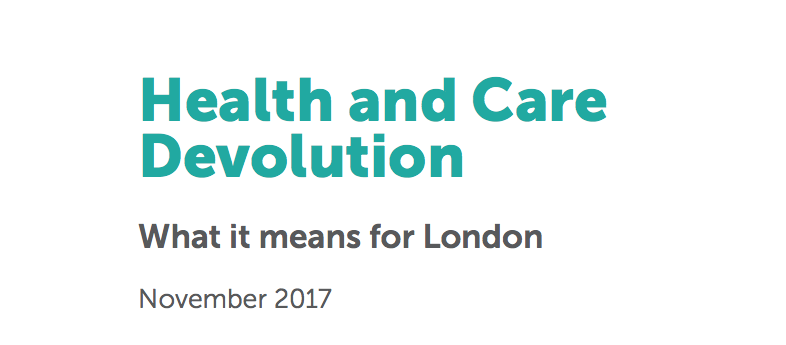 Why devolution of health and care services should do London good