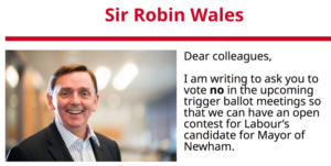 Q&A: Sir Robin Wales on his record, the 'trigger ballot' saga and why he deserves a fifth term as Newham Mayor