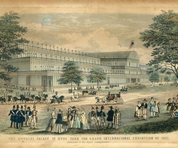 The crystal palace in hyde park for grand international exhibition of 1851