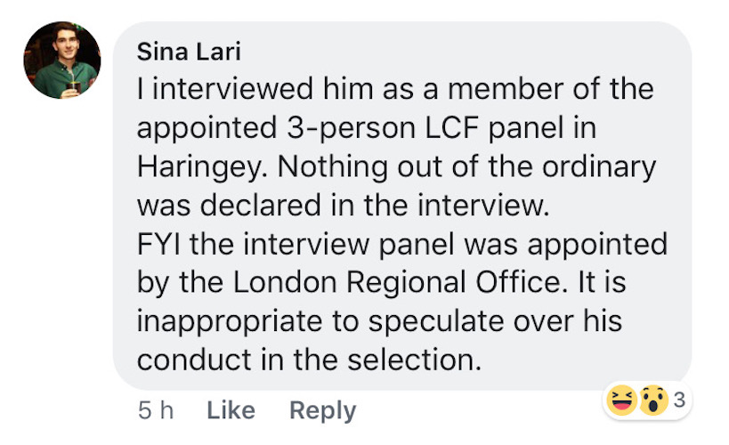 Haringey: Osamor declared 'nothing out of the ordinary' during selection questioning, claims interview panel member