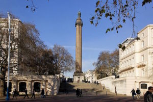 Duke of york column from the mall, london