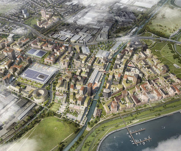 Cgi+of+the+meridian+water+masterplan,+looking+north