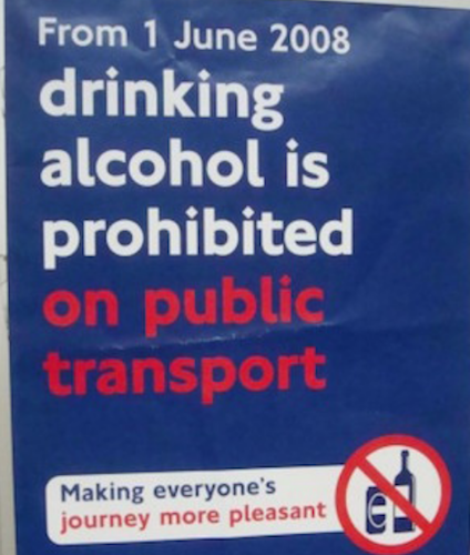 Dave Hill: London's public transport booze ban should be respected