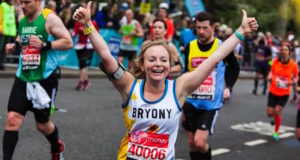 Hospice uk fundraiser running in the virgin money london marathon