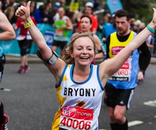 Hospice uk fundraiser running in the virgin money london marathon